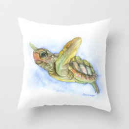 Sea Turtle Watercolor Throw Pillow