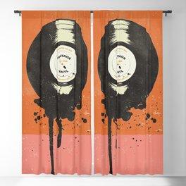 VINTAGE VINYL DRIP Blackout Curtain