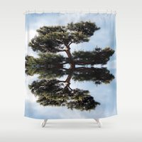 meditation Shower Curtains featuring Meditation by Augustine