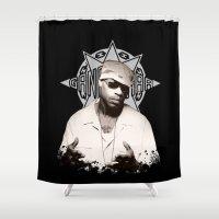 2pac Shower Curtains featuring Guru // GangStarr by Gold Blood