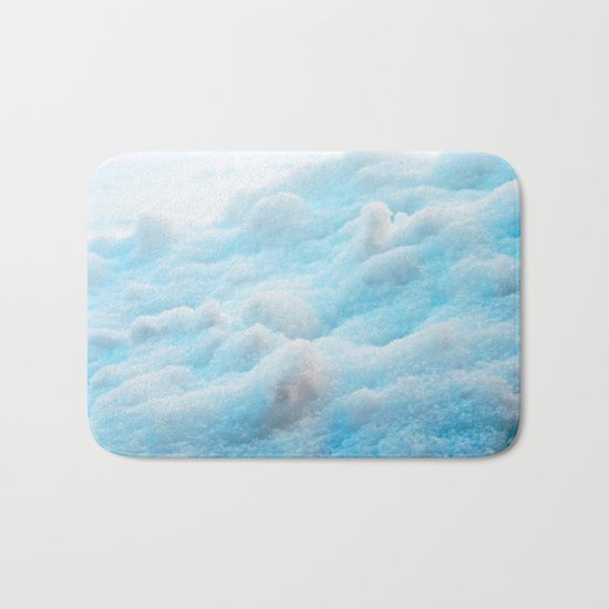 Blue Snow Bath Mat