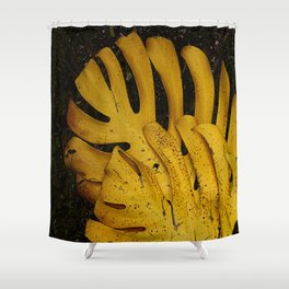 Not The Usual Fallen Leaves Shower Curtain