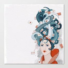 Rococo: Queen of Hearts Canvas Print