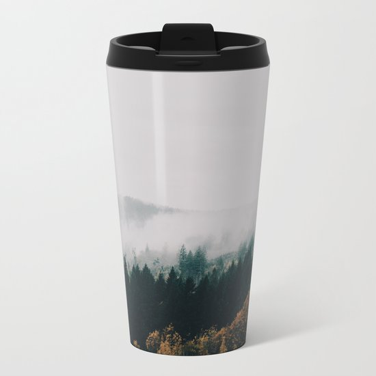 Forest Fog Metal Travel Mug