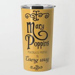 Mary Poppins poster, minimalist movie, Julie Andrews cult film, alternative affiche, Supercalifragi Travel Mug