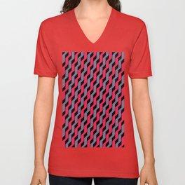 Steps - Red/Blue Unisex V-Neck