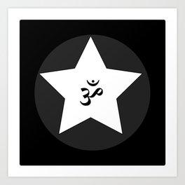 Om Star Art Print