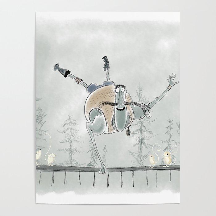 Coraline Mr Bobinsky Poster By Hollydoesart Society6
