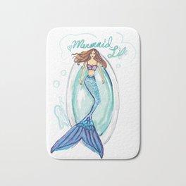 Mermaid in a Tub Bath Mat