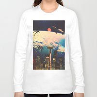 future Long Sleeve T-shirts featuring Future. by Polishpattern