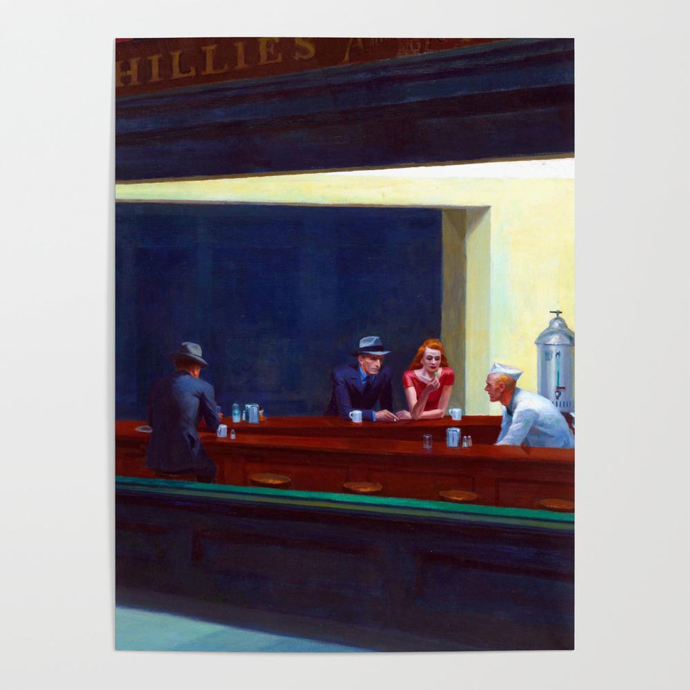 Edward Hopper Nighthawks Poster by jjbzz