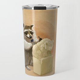 Raccoon in Pursuit of Perfection Travel Mug