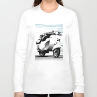 racing Long Sleeve T-shirts featuring Racing by Don Paris Schlotman