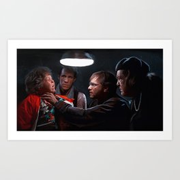 The Fratelli Interrogation Of Chunck - The Goonies Art Print