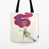 aurora Tote Bags featuring aurora by yohan sacre