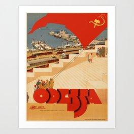 Vintage poster - Odessa Art Print