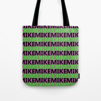 mike wrobel Tote Bags featuring Mike by Kyle McDonald