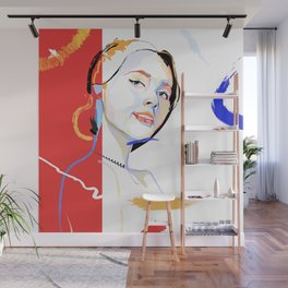 Classic Red. Rad & Inked Portrait Lady Wall Mural