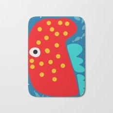 Red Fish illustration for kids Bath Mat