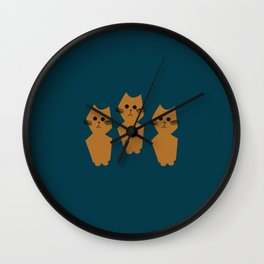 Curious Cats Wall Clock