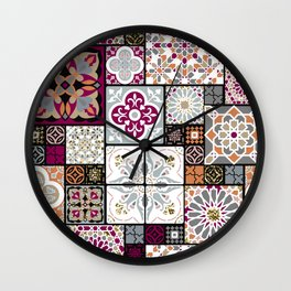 Moroccan Tile Pattern Wall Clock