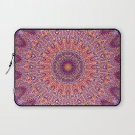 Purple Orange Red Burst Mandala 012018 Laptop Sleeve
