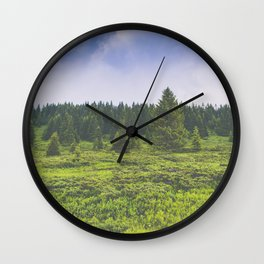 Infinite forest landscape Wall Clock