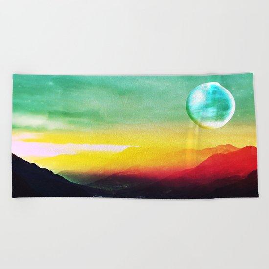 Luna verde Beach Towel