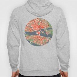 Stockholm city map classic Hoody