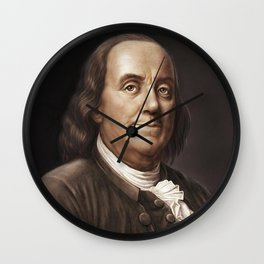 President Ben Franklin Wall Clock