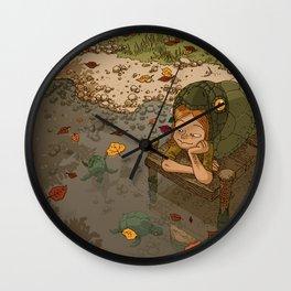 La rivière aux tortues Wall Clock
