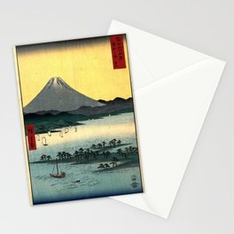 Hiroshige - 36 Views of Mount Fuji (1858) - 24: The Pine Forest of Miho in Suruga Province Stationery Cards