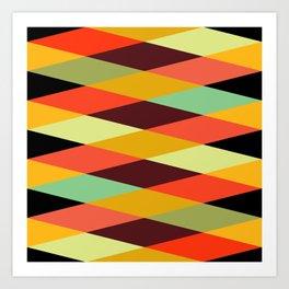 Geometric Pattern #28 (crisscross) Art Print