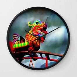Carnival Dragon Wall Clock