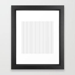 White Black Pinstripes Minimalist Framed Art Print