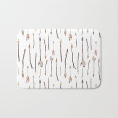 Boho Arrows with Feathers Pattern Bath Mat