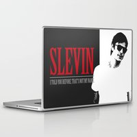 scarface Laptop & iPad Skins featuring Lucky Scarface Slevin. by Agu Luque
