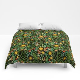 Sunshine Botanical - Dark Version Comforters