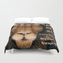 Lion - Proverbs 28, 1 Duvet Cover