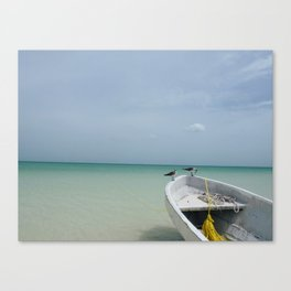 2 Birds, 1 Boat Canvas Print