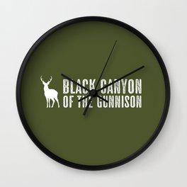 Deer: Black Canyon of the Gunnison, Colorado Wall Clock