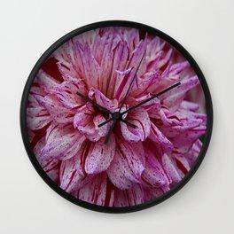 Dahlia Petals Wall Clock