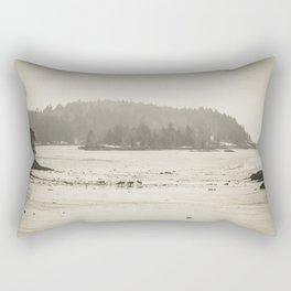 Deer Island at Low Tide Rectangular Pillow