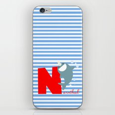 n for narwhal iPhone & iPod Skin