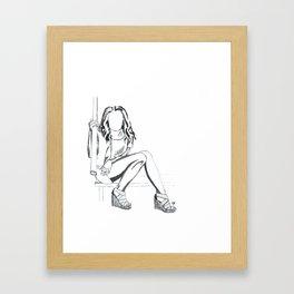 Girl Sitting #3 Framed Art Print