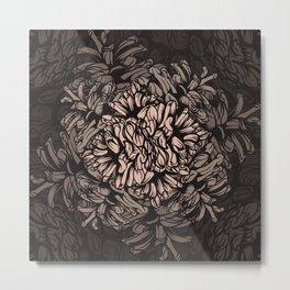 Pine Cones Pattern I Metal Print