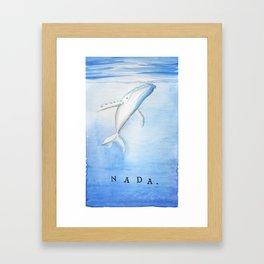 Nada - White Humpback Whale Framed Art Print