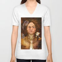 pagan V-neck T-shirts featuring Pagan Avatar by Bryan Dechter
