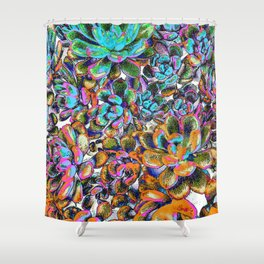 Floral tribute [galaxy] Shower Curtain