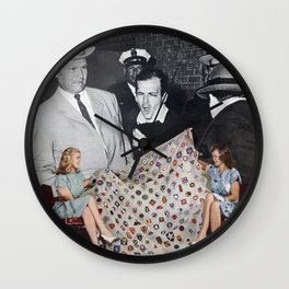 Government Cover Up - Vintage Collage Wall Clock